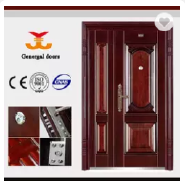 Security steel modern house front door