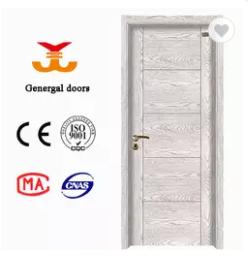 Modern wood grain Melamine timber door