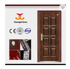 ISO9001 Best Price 8 panel reinforced steel Security door metal