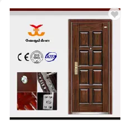 ISO9001 Best Price 8 panel reinforced steel Security door metal
