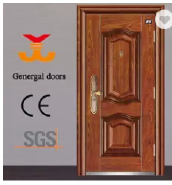 Anti-theft latest design security steel door