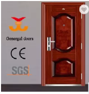 ISO9001 Safety Main Entry Exterior Security Steel Door