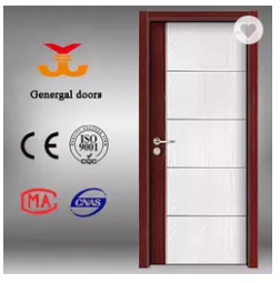 Melamine interior single wooden door design