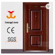 Simple design cheap price flush plain yiwu security doors