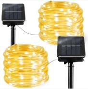 LED solar rope string light