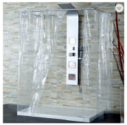 High quality 72*72 inch clear pvc shower curtain for bathroom
