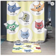 Wholesale waterproof digital printing custom made bathroom fabric shower curtain