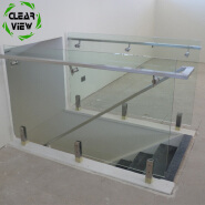 Clearview Furnishing carbon galvanized stainless steel balcony railing
