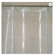 Hot sale amazon 70*70 inch clear flame retardant shower curtain for bathroom