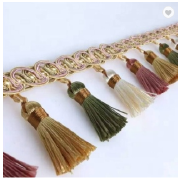 Decorative tassel curtain fringe trimming wholesale polyester tassel fringes trimming made in China