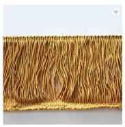 Wholesale decorative brush tassel fringe trimmings for dresses lace fringe trim for curtain