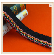 High quality black cotton fringe trim for dress T-shirt skirts curtains decoration on sale