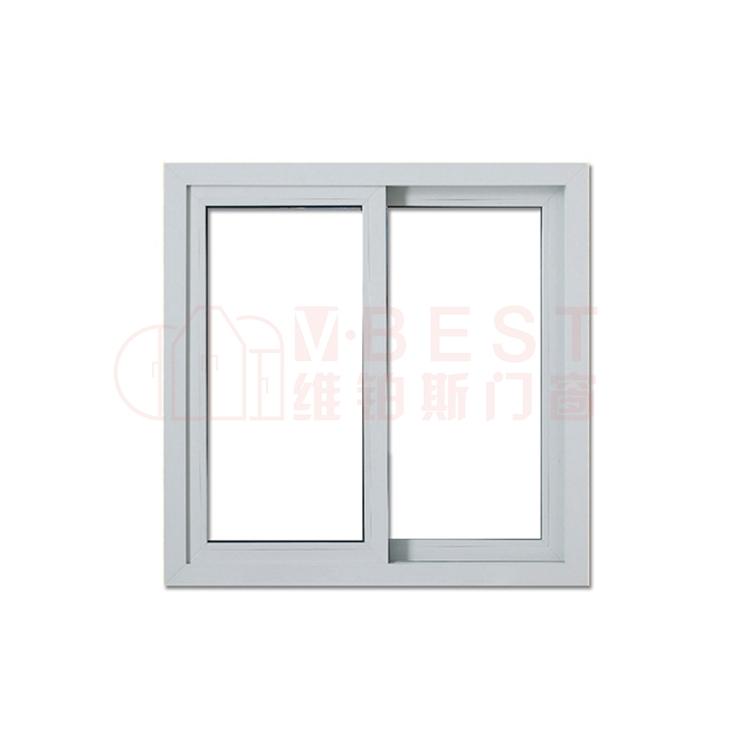 Commercial Fixed Double Large Tinted Glazed Pvc Sliding Window New Model House Passive Hurricane Impact Glass Windows