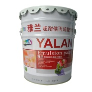 Nontoxic acrylic emulsion for indoor and outdoor wall paint