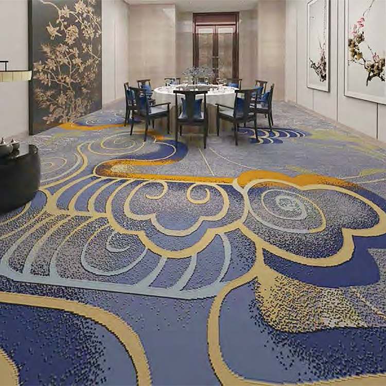 Factory price customized high quality woven axminster carpet hotel banquet hall carpet