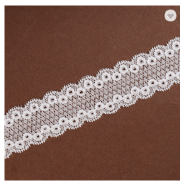 High quality decoration polyester ribbon lace embroidered mesh wedding laces trimming