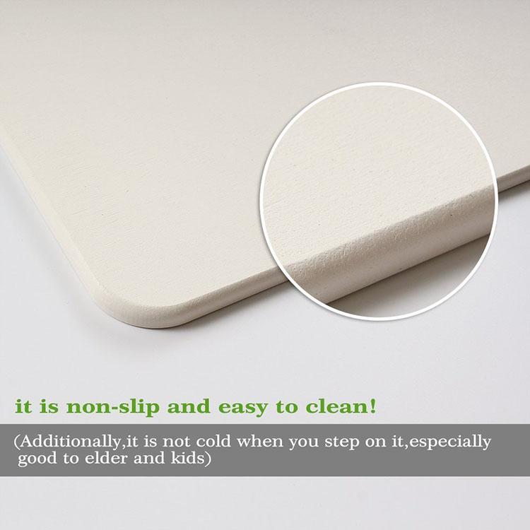 Environmental Protection Waterproof Raw Diatomite Bath Mat For Bathroom Floor Mat