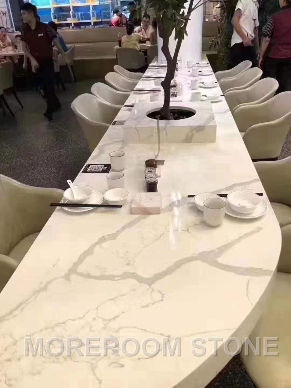 Artificial Stone Calacatta White Quartz Slab