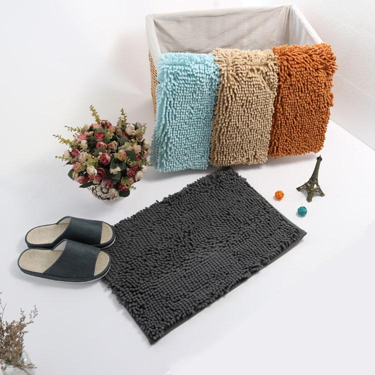 (CHAKME) Supply Durable Anti-Slip Chenille Bath Mat For Bthroom Shower