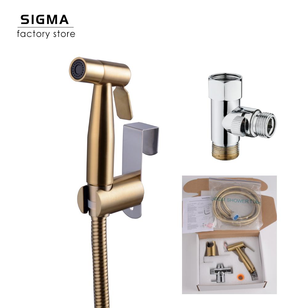 SIGMA Gold Stainless steel bidet sprayer set with hanger toilet sprayer bidet sprayer Amazon ebay shopee hot sale