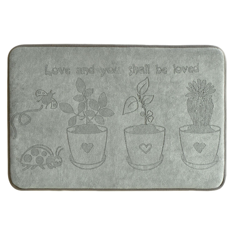 (CHAKME) Anti-slip Suction Super Water Absorption Protection Bath Mat With Printed