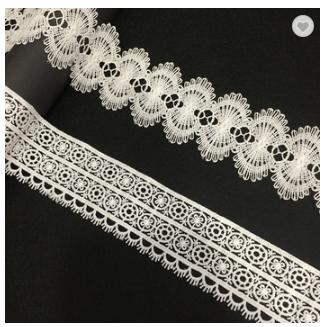 High quality decoration eyelash fabric lace crochet lace trimming wedding lace trim