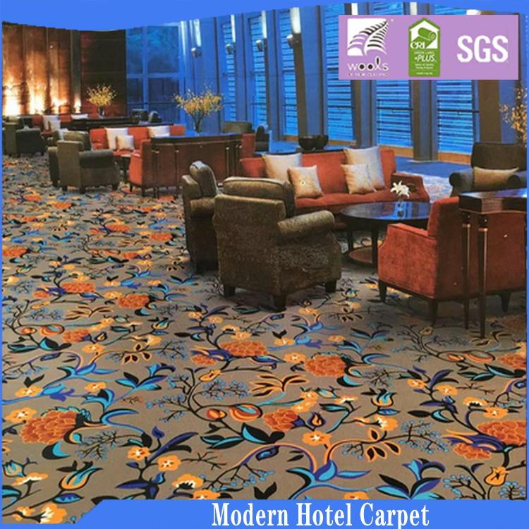 Machine Woven Cut Pile Axminster Carpet Wool Nylon Comfort Roll Carpet