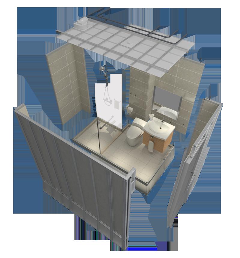 Modular Bathroom A1616