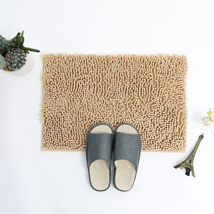 (CHAKME) Non Slip Extra Absorbent And Comfortable Shaggy Microfiber Chenille Bath Rug