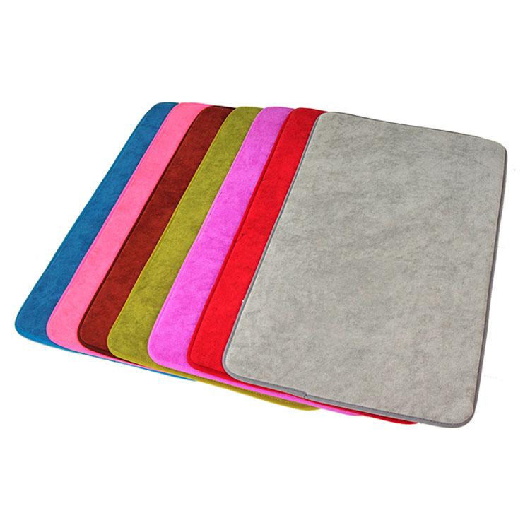 (CHAKME) Washable Memory Foam Microfiber Waterproof Non Slip Bath Mat