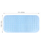 (CHAKME) Machine Washable Antibacterial Phthalate Free Extra Large Anti Slip Bath Mats With Drain Holes And Suction Cups
