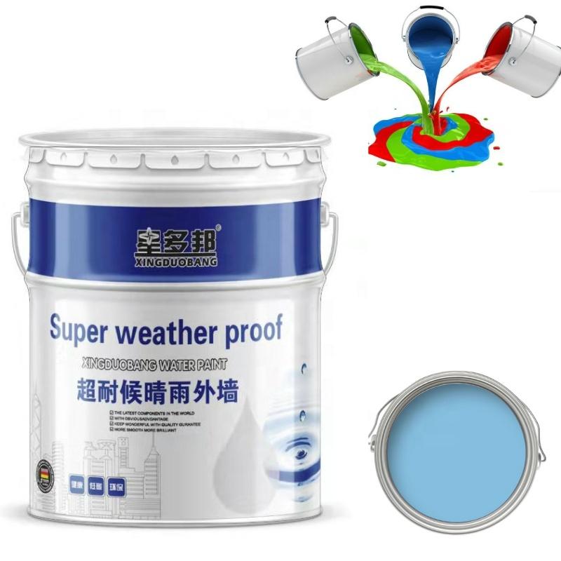 Waterproof, weather and alkali resistant Exterior wall paint, outdoor coating
