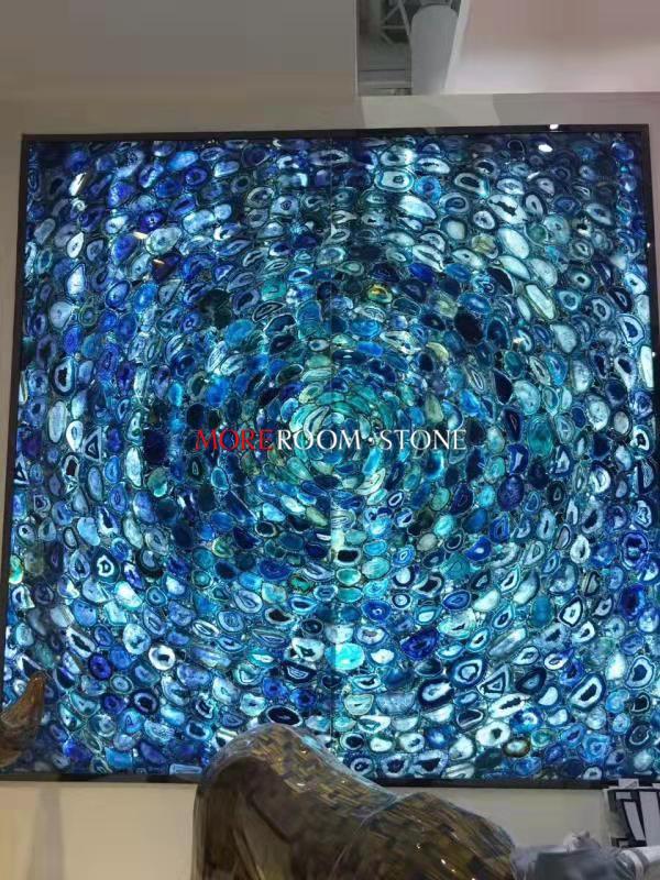 Gemstone Blue Agate for Wall