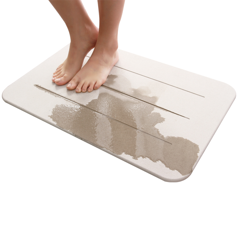 (CHAKME) Ultra-strong Quick Dry Water Absorption Anti Slip Diatomite Foot Bath Mat