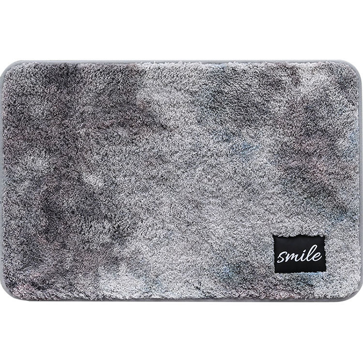 (CHAKME) Water Absorbent 100% Polyester Shaggy Non Slip Color Changing Bath Mat