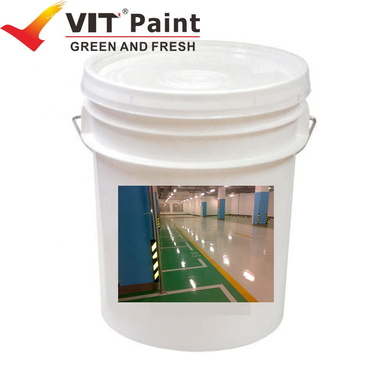SAM-8320 epoxy polyester Water-based self-leveling wear resistance epoxy resin flooring top coat