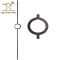 Tubular Single Double Ring Wrought iron Balusters Metal Stair Parts, High Quality double ring balusters,double ring balusters