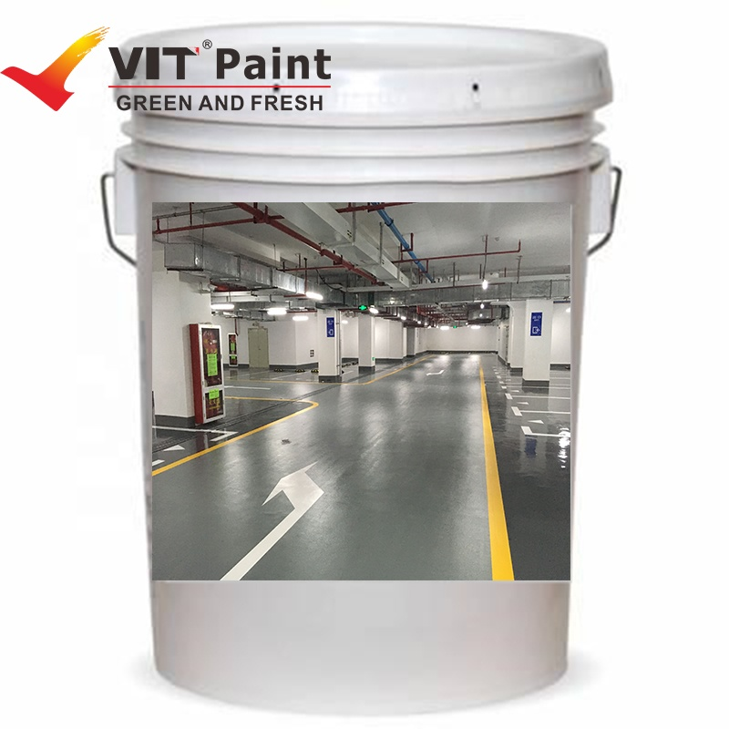 SAM-8320 Hot selling good quality Water-based self-leveling wear resistance epoxy resin flooring top coat