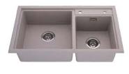 European style double bowl fancy kitchen sink