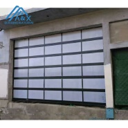 glass panel sectional garage door for home or commercial or 4S dealership