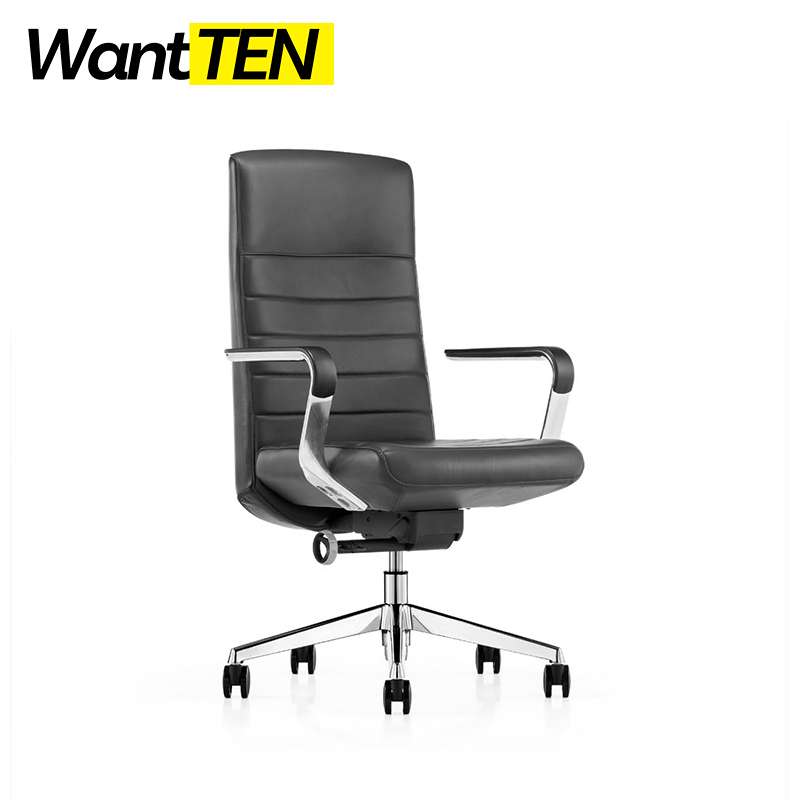 Wantten Design Leather Modern Fashion Hige-back Office Chair Italy Simple Style B1801
