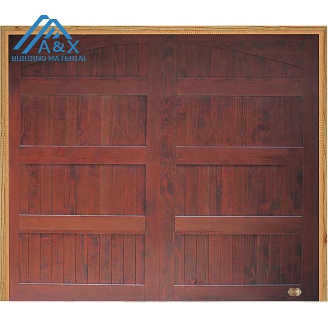 Top sliding Automatic Wood Garage Door