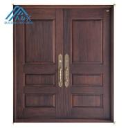 Double Real Wood Entrance Door