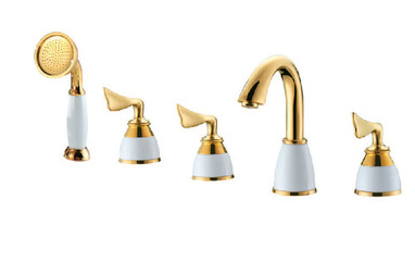 Brass with ceramic material royal design good quality separate bathtub faucet