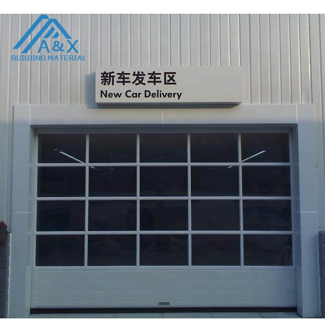 Stable Elegant Aluminum glass garage door Metal clear design affordable garage door