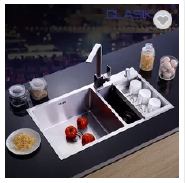 Good quality Made in china hotsale hand made 304 SUS double bowl kitchen sink
