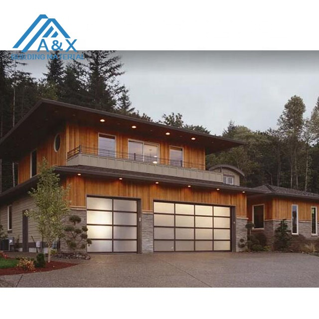 Aluminum Sectional Insulated Transparent Glass Garage Door