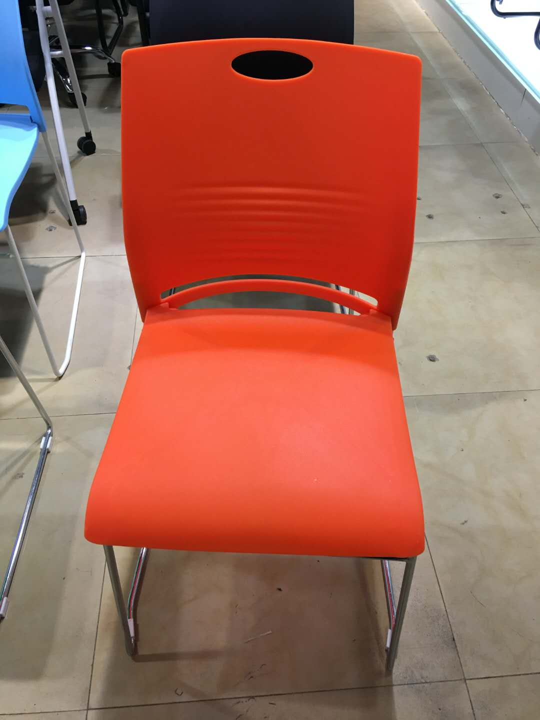 Solid steel office chair