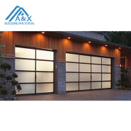 Aluminum Sectional Insulated Transparent Glass Garage Door