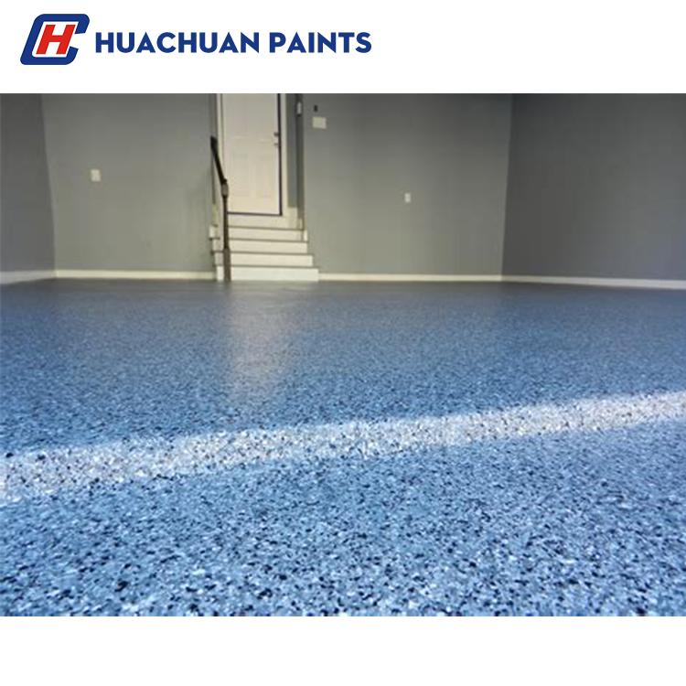 Good linking property solvent-free anti-static epoxy floor intermediate coating